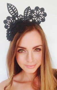 """Oana"" felt headband crown by SHOW PONY Millinery"