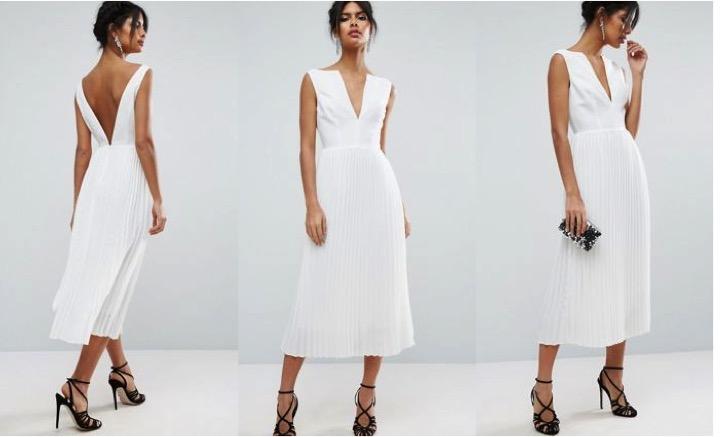 Show pony white dress