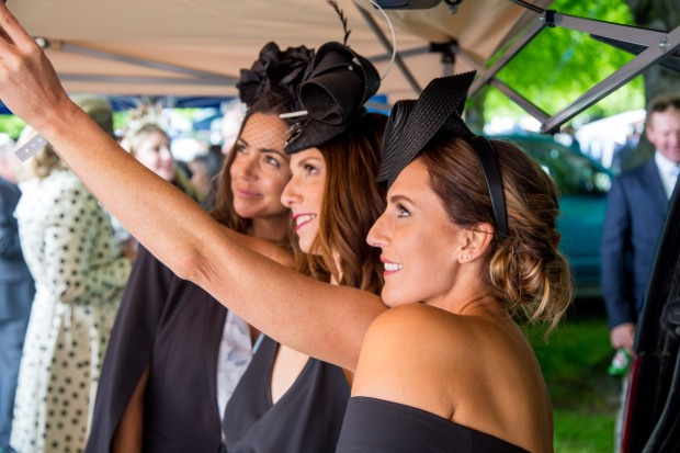 These SHOW PONY Millinery ladies clearly know how to take the perfect selfie