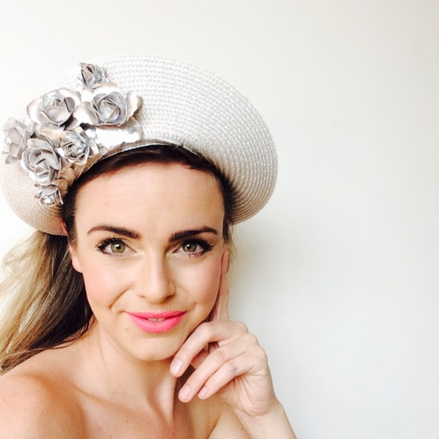 We absolutely love this silver on silver floral halo and only have one left in our store!